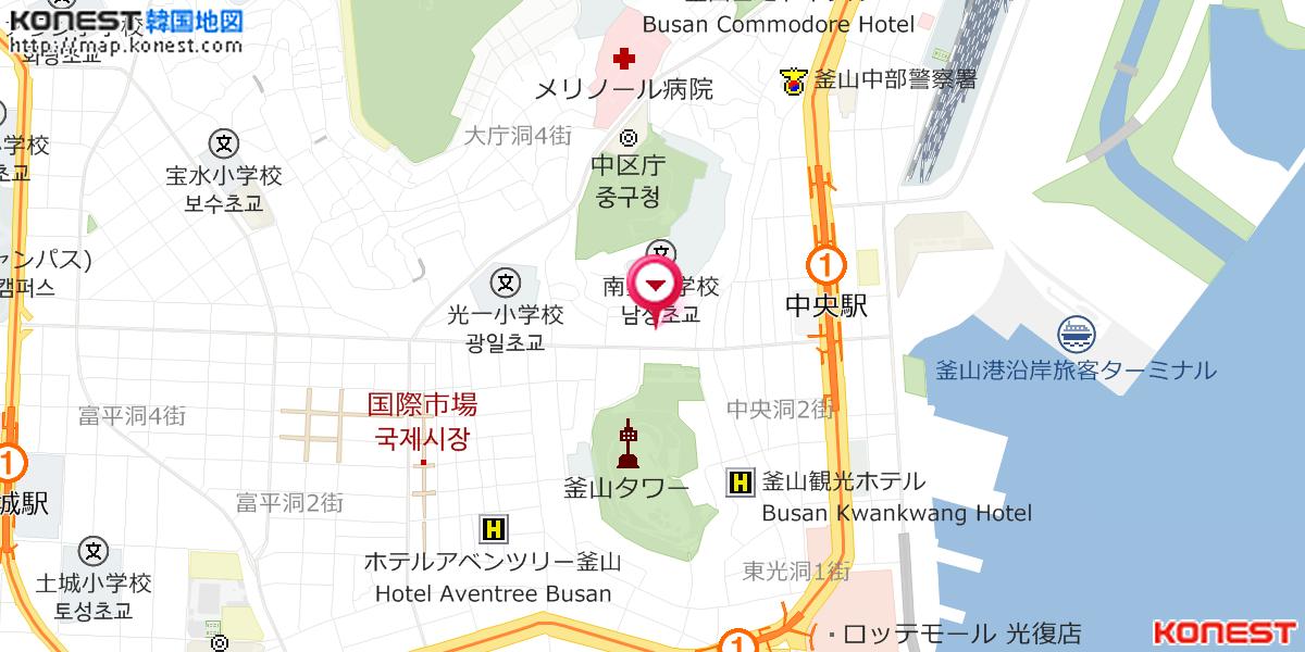 ハッピー シェアリングの地図・行き方 韓国ホテル予約「コネスト」